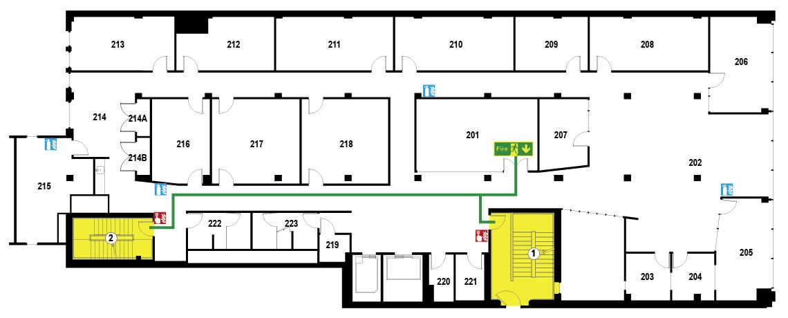 Safety Plan Sample Floor Plan